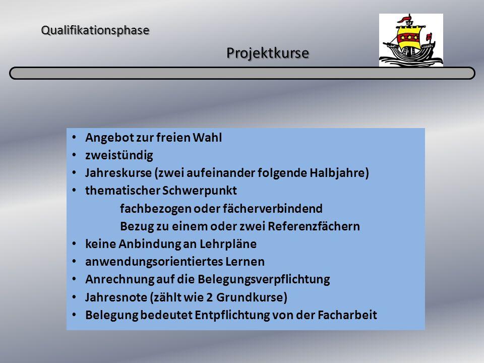 Qualifikationsphase Projektkurse