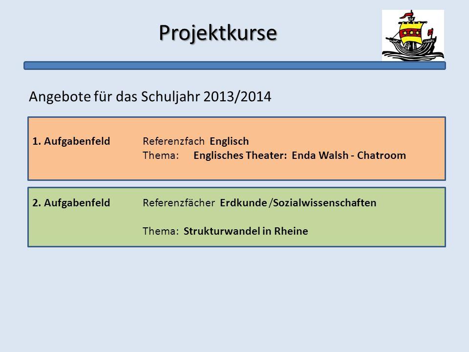 Angebote für das Schuljahr 2013/2014