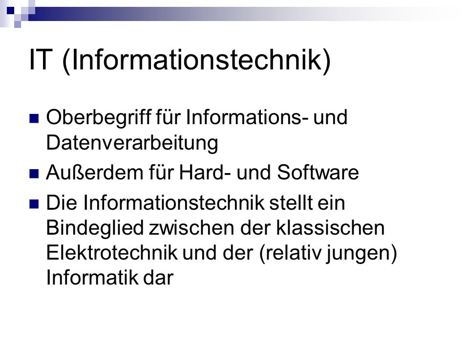 IT (Informationstechnik)