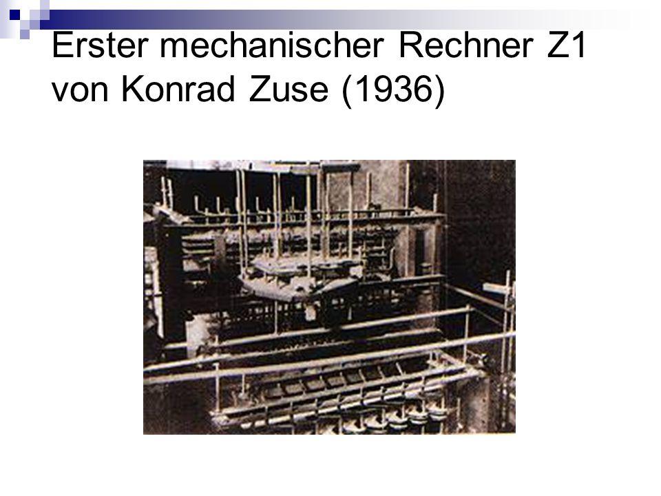 Erster mechanischer Rechner Z1 von Konrad Zuse (1936)