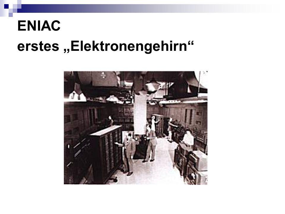 "ENIAC erstes ""Elektronengehirn"
