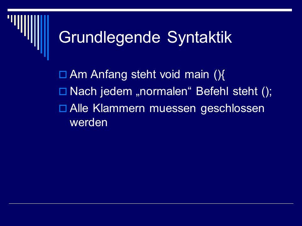 Grundlegende Syntaktik