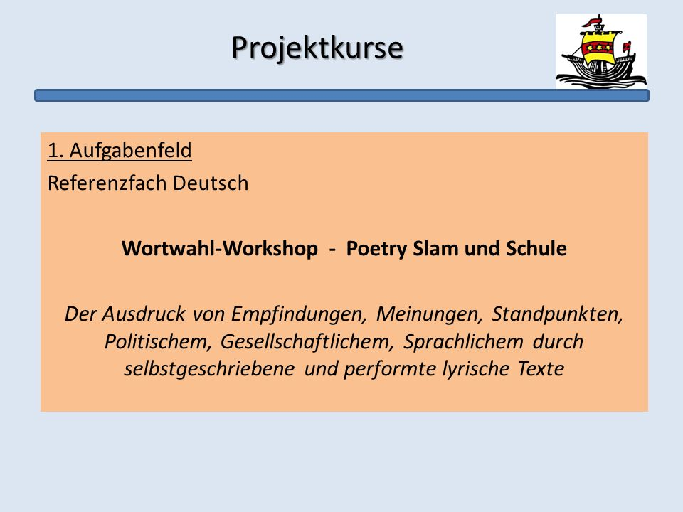 Wortwahl-Workshop - Poetry Slam und Schule