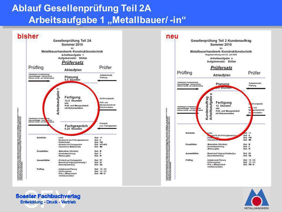 """Ablauf Gesellenprüfung Teil 2A Arbeitsaufgabe 1 """"Metallbauer/ -in"""