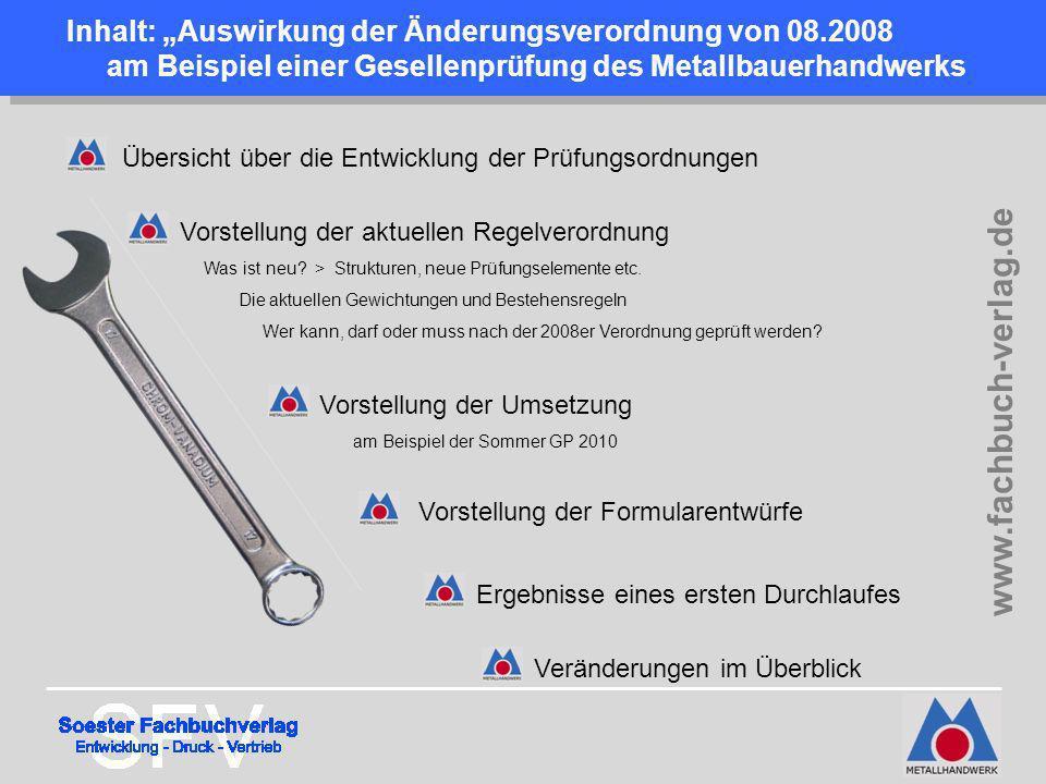 """Inhalt: """"Auswirkung der Änderungsverordnung von 08"""