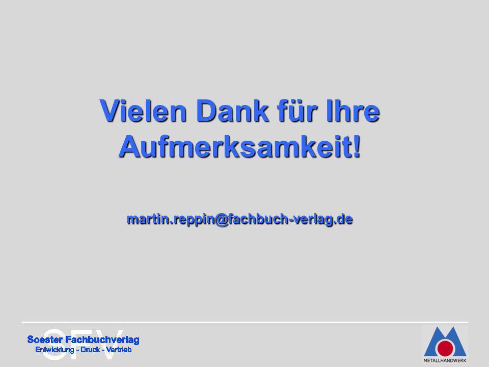 Vielen Dank für Ihre Aufmerksamkeit! martin.reppin@fachbuch-verlag.de