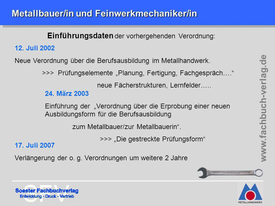 Metallbauer/in und Feinwerkmechaniker/in