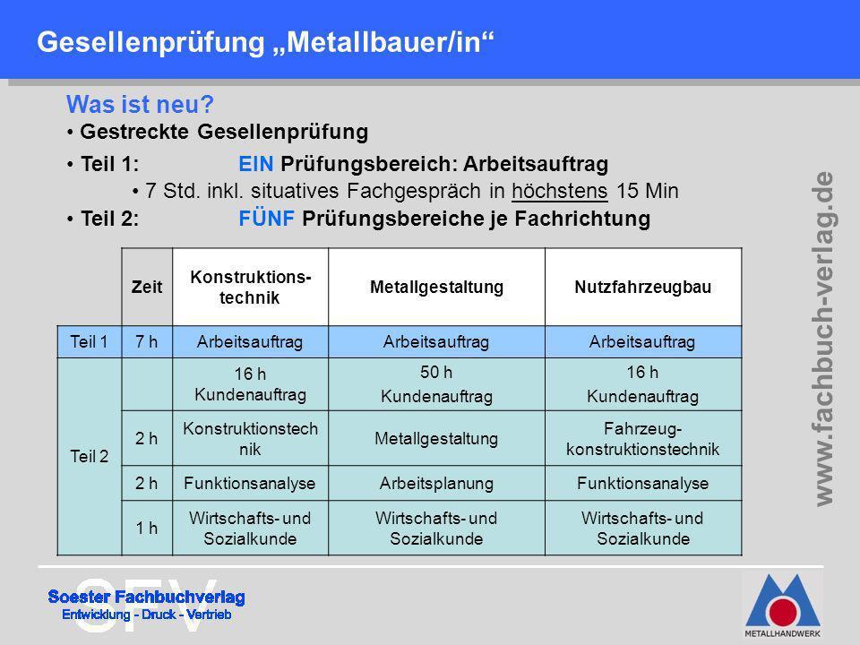 """Gesellenprüfung """"Metallbauer/in"""