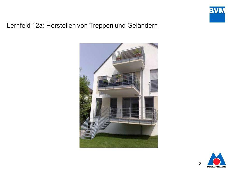 Lernfeld 12a: Herstellen von Treppen und Geländern