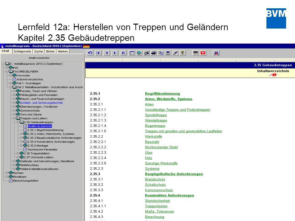 Lernfeld 12a: Herstellen von Treppen und Geländern Kapitel 2