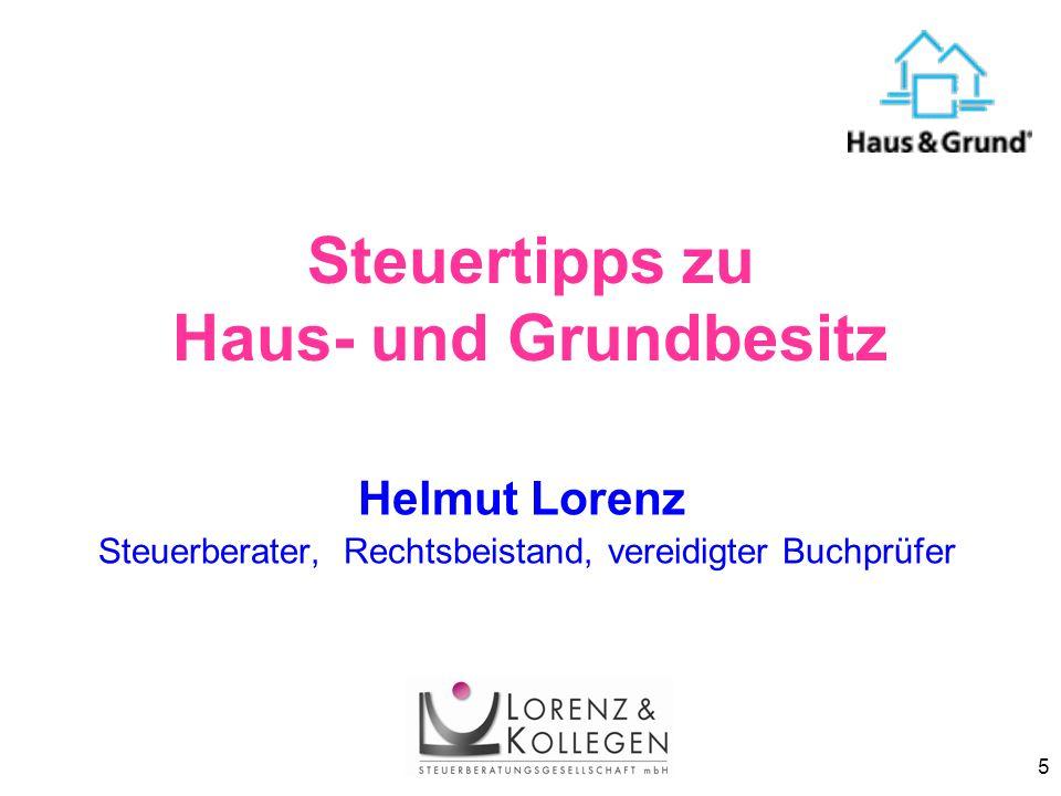 Steuertipps zu Haus- und Grundbesitz