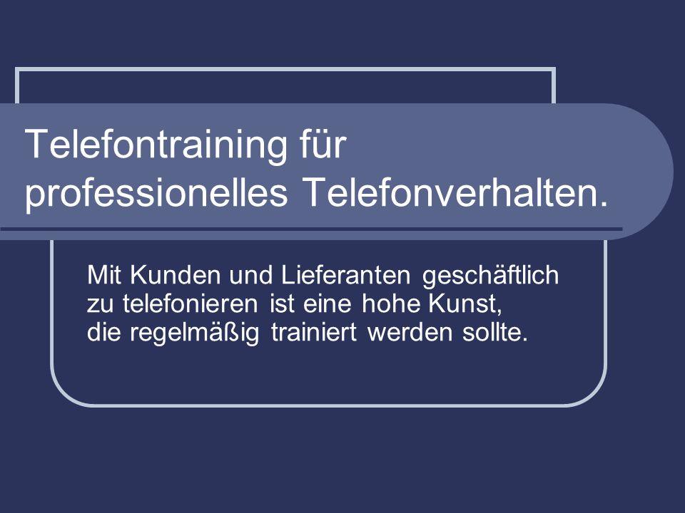 Telefontraining für professionelles Telefonverhalten.