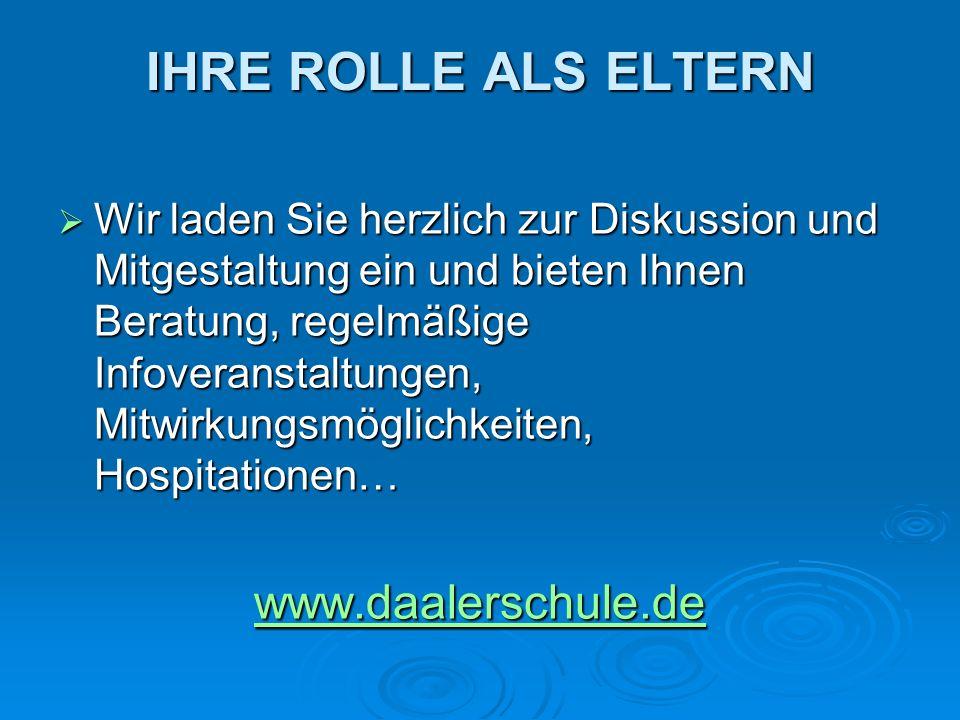 IHRE ROLLE ALS ELTERN www.daalerschule.de