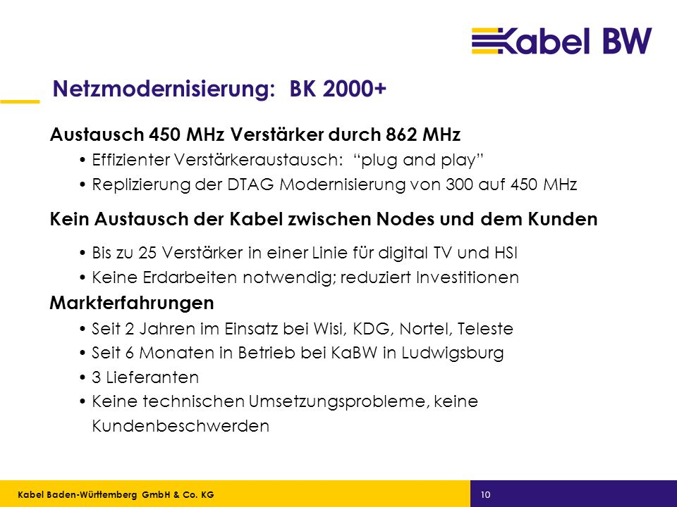 Netzmodernisierung: BK 2000+