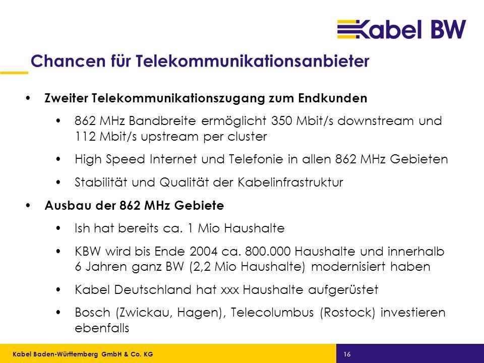 Chancen für Telekommunikationsanbieter