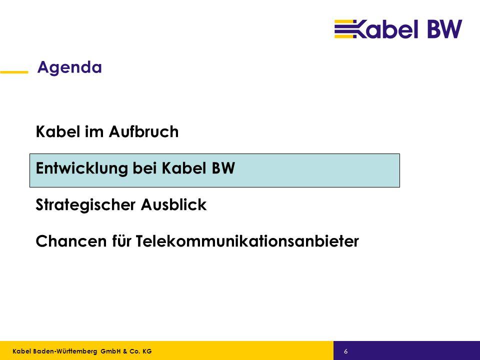 Agenda Kabel im Aufbruch Entwicklung bei Kabel BW