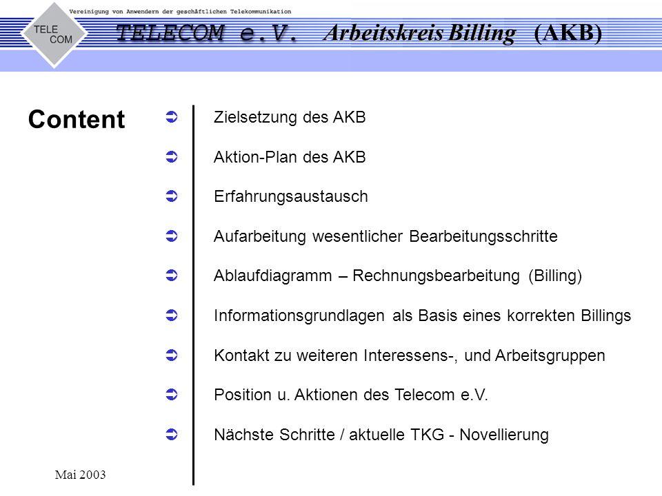 Content Zielsetzung des AKB Aktion-Plan des AKB Erfahrungsaustausch