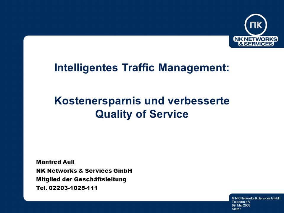 Intelligentes Traffic Management: