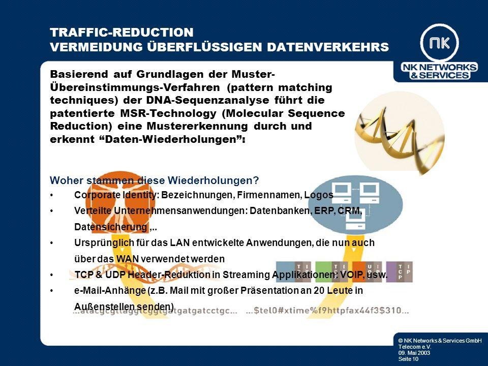 TRAFFIC-REDUCTION VERMEIDUNG ÜBERFLÜSSIGEN DATENVERKEHRS