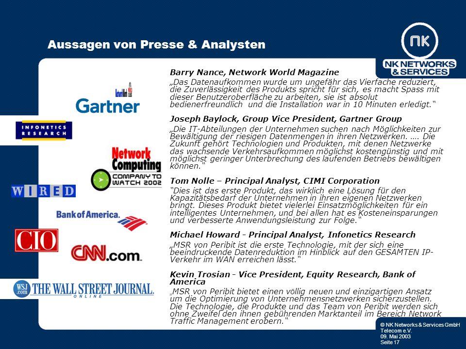 Aussagen von Presse & Analysten