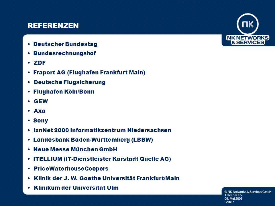REFERENZEN • Deutscher Bundestag • Bundesrechnungshof • ZDF