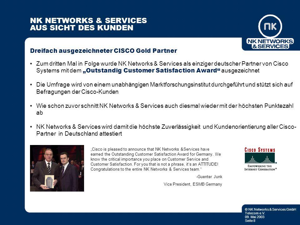 Dreifach ausgezeichneter CISCO Gold Partner