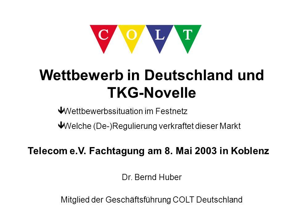 Wettbewerb in Deutschland und TKG-Novelle