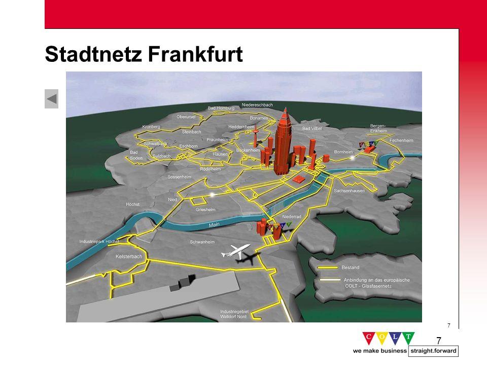 Stadtnetz Frankfurt Gründung: Juni 1995 Netzinbetriebnahme: März 1996