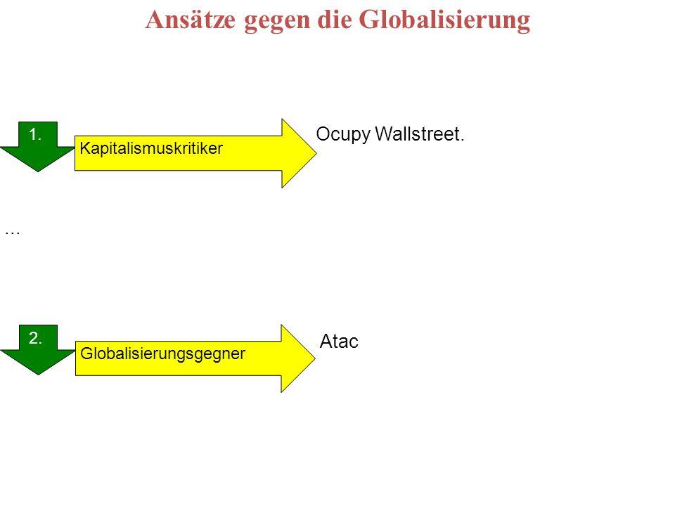 Ansätze gegen die Globalisierung