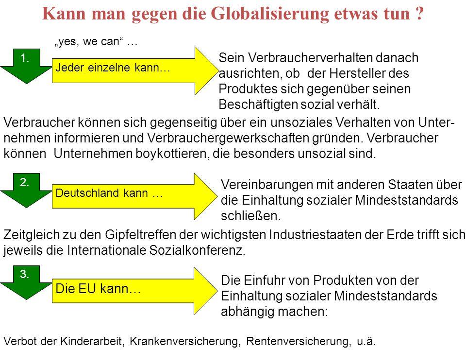 Kann man gegen die Globalisierung etwas tun