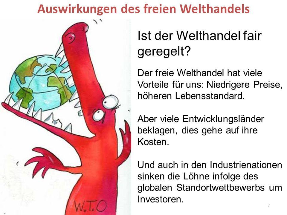 Auswirkungen des freien Welthandels
