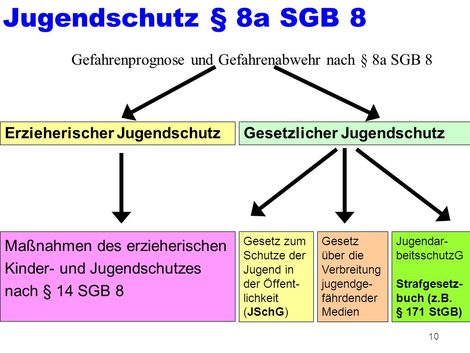 Jugendschutz § 8a SGB 8 Gefahrenprognose und Gefahrenabwehr nach § 8a SGB 8. Erzieherischer Jugendschutz.