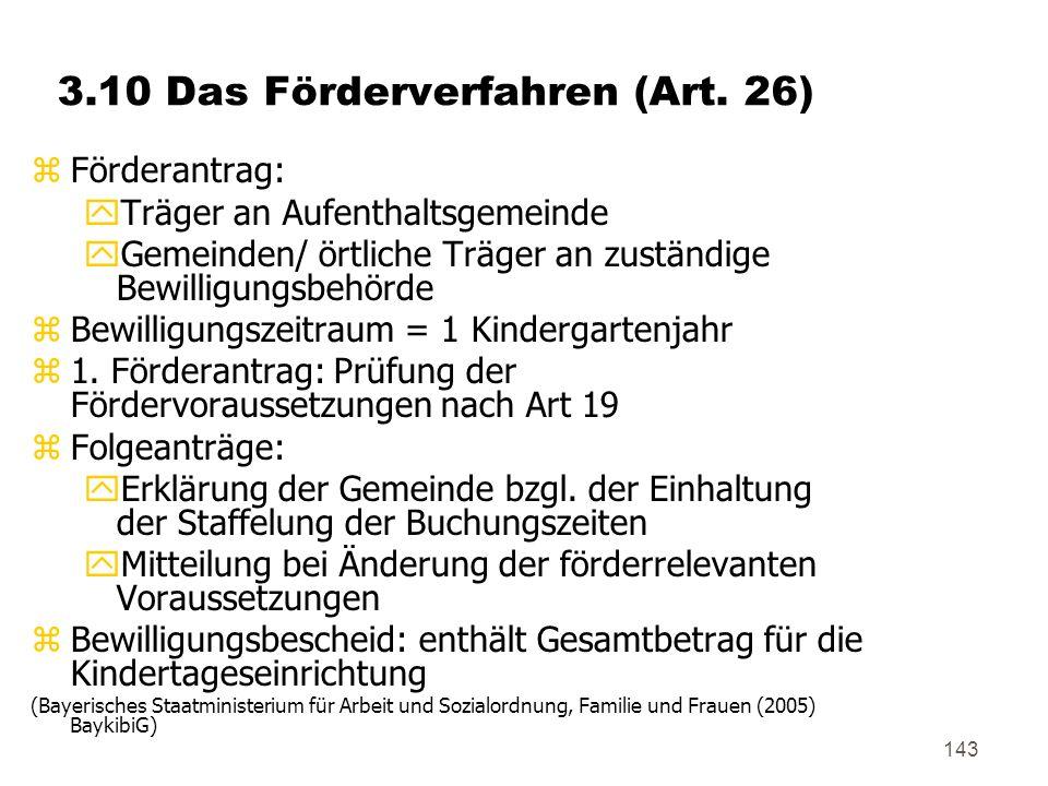 3.10 Das Förderverfahren (Art. 26)