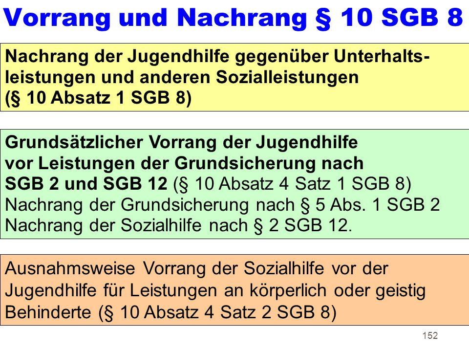 Vorrang und Nachrang § 10 SGB 8