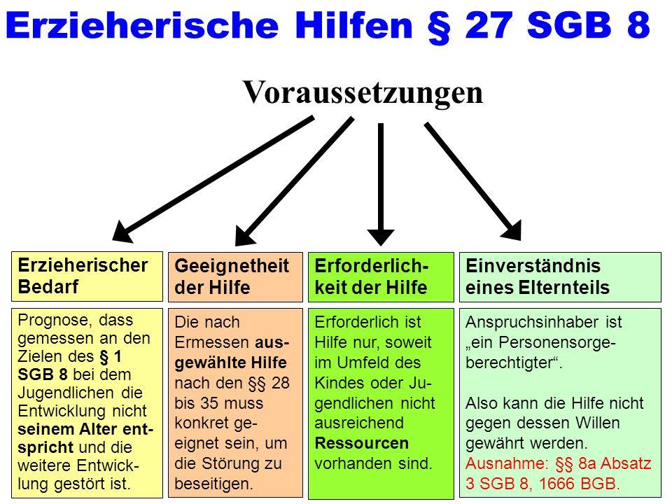 Erzieherische Hilfen § 27 SGB 8