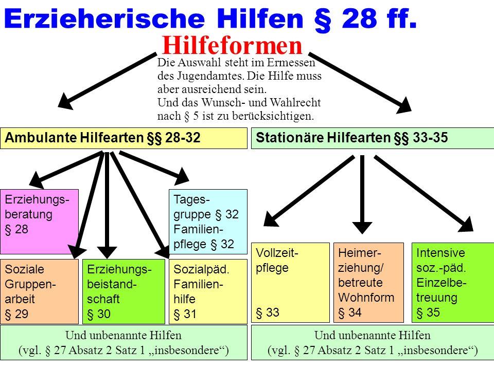 Erzieherische Hilfen § 28 ff.