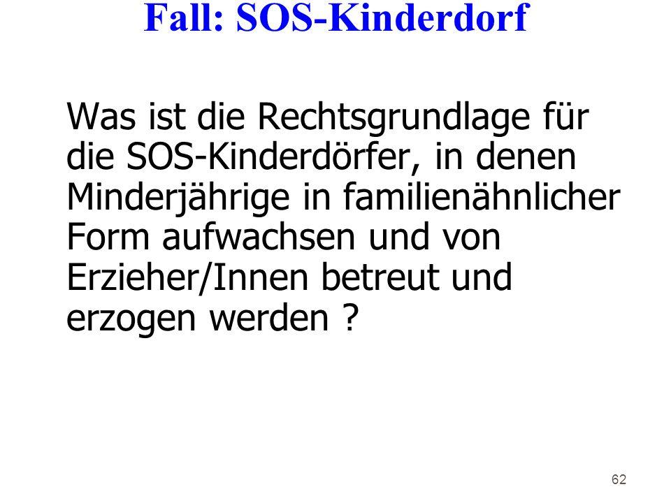 Fall: SOS-Kinderdorf