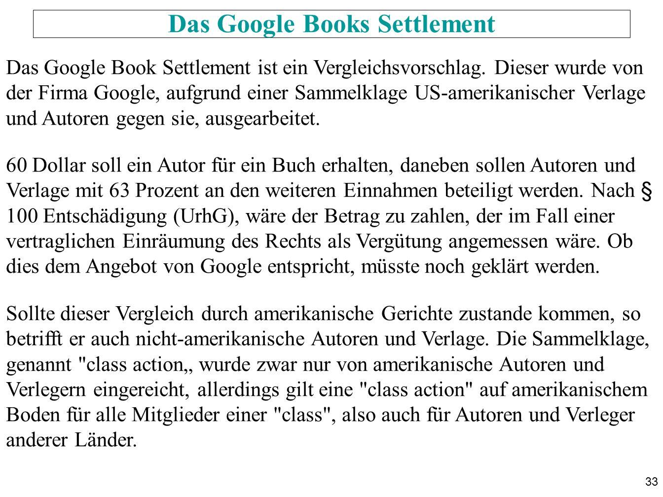 Das Google Books Settlement
