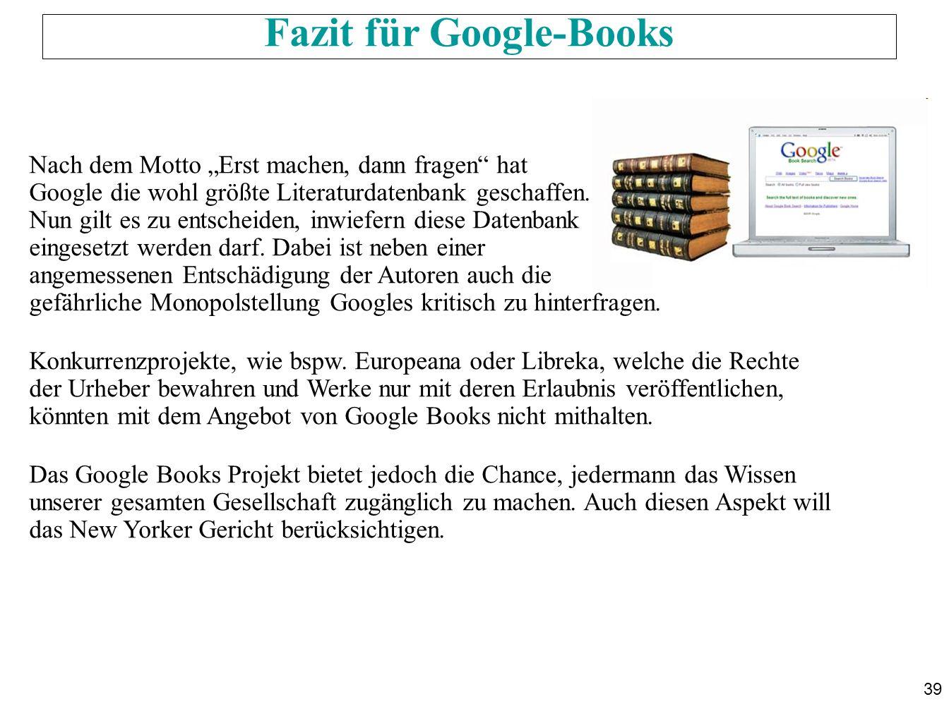 Fazit für Google-Books