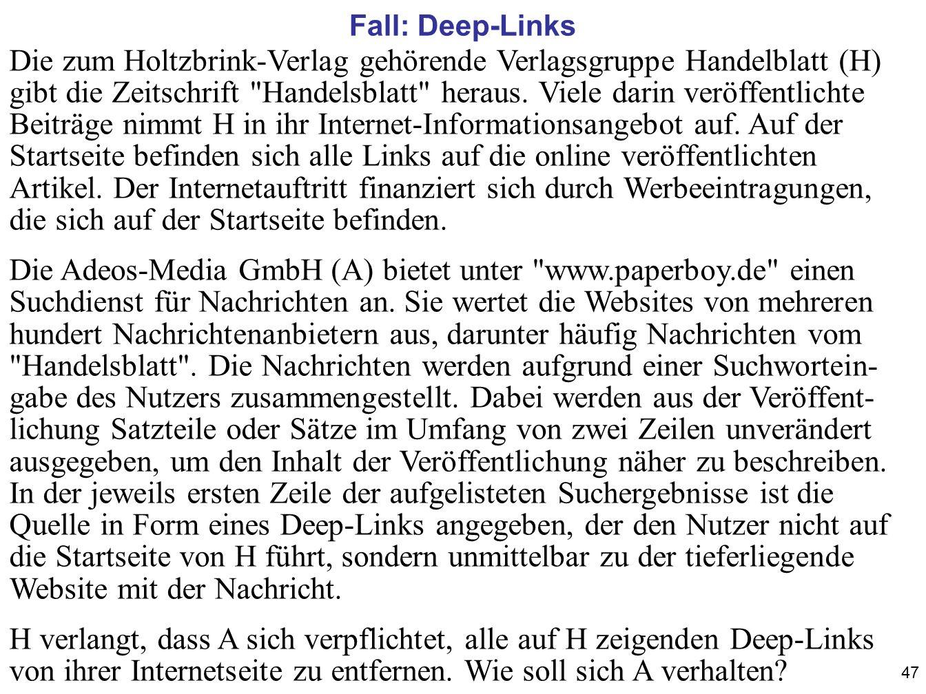 Fall: Deep-Links