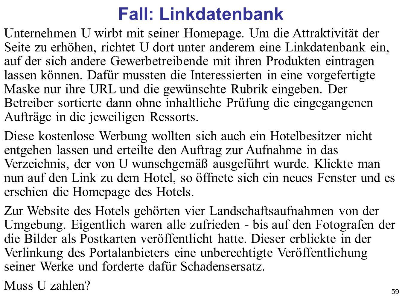Fall: Linkdatenbank