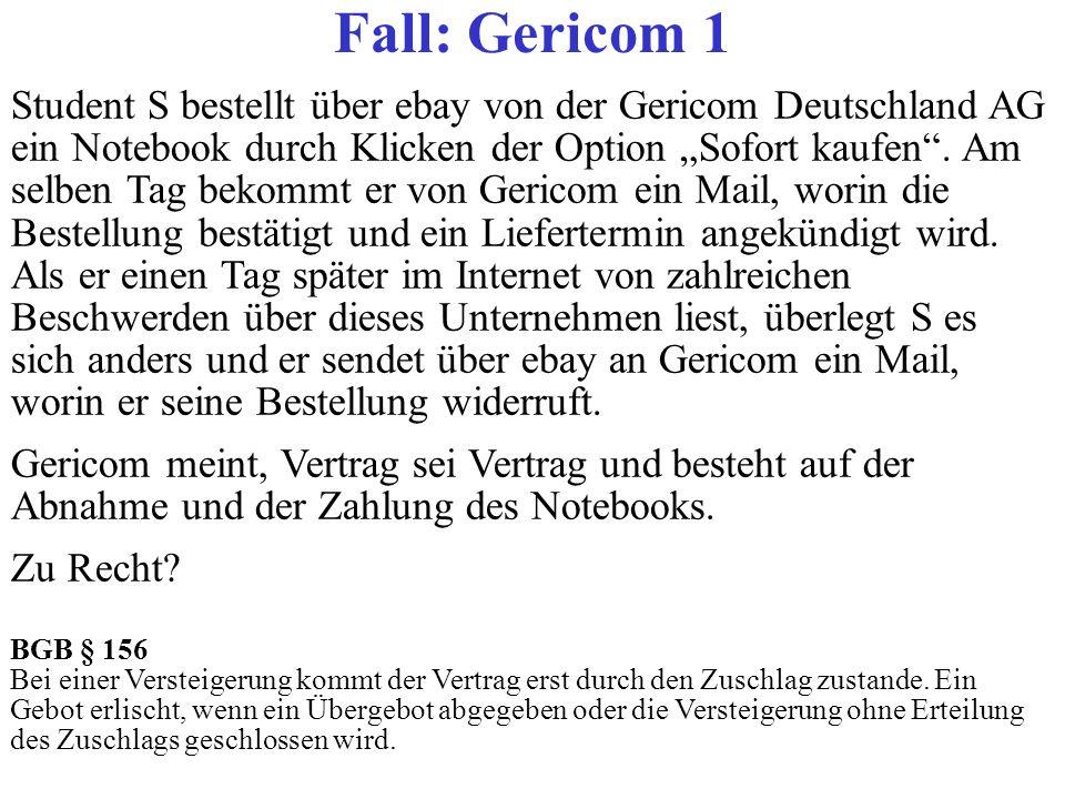 Fall: Gericom 1