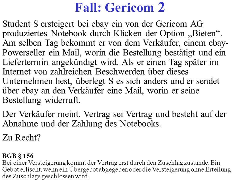 Fall: Gericom 2