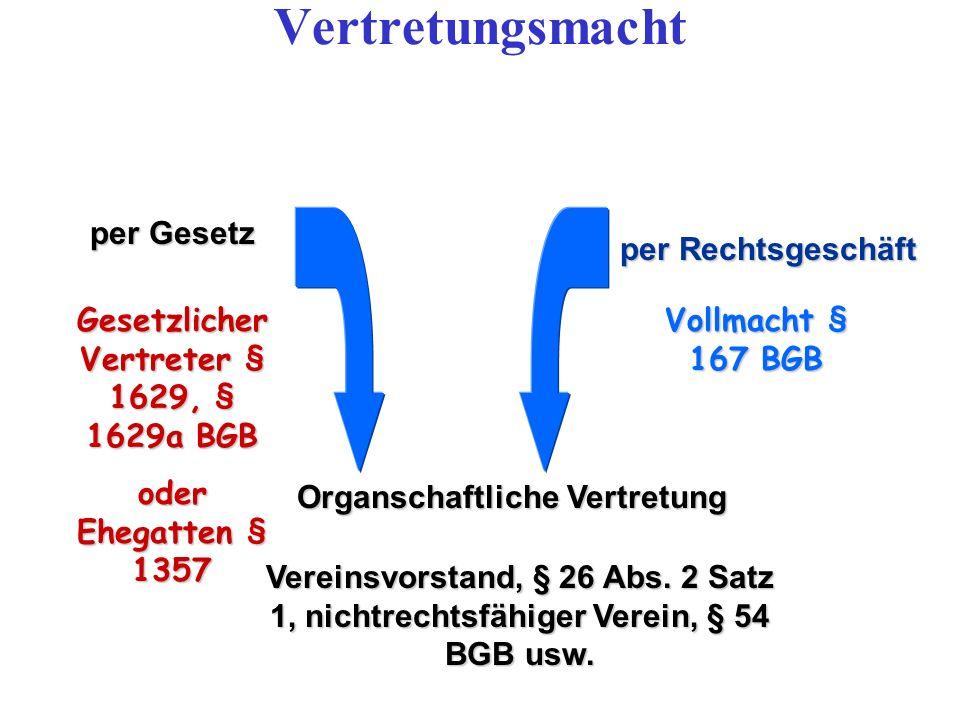 Organschaftliche Vertretung