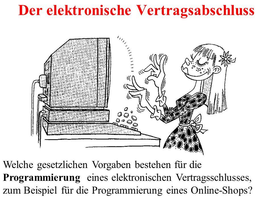 Der elektronische Vertragsabschluss