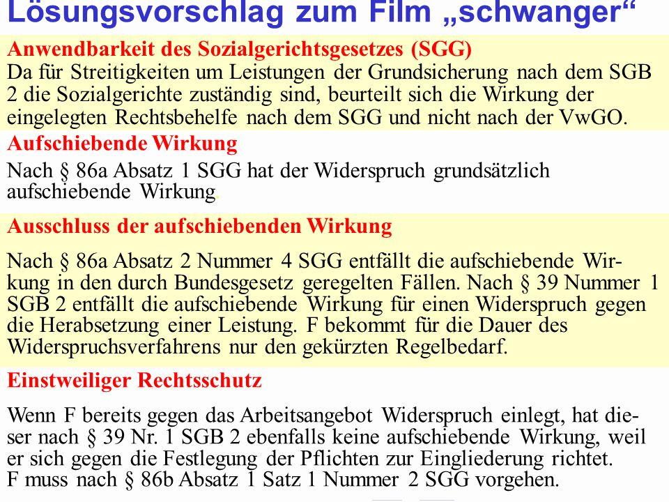 """Lösungsvorschlag zum Film """"schwanger"""