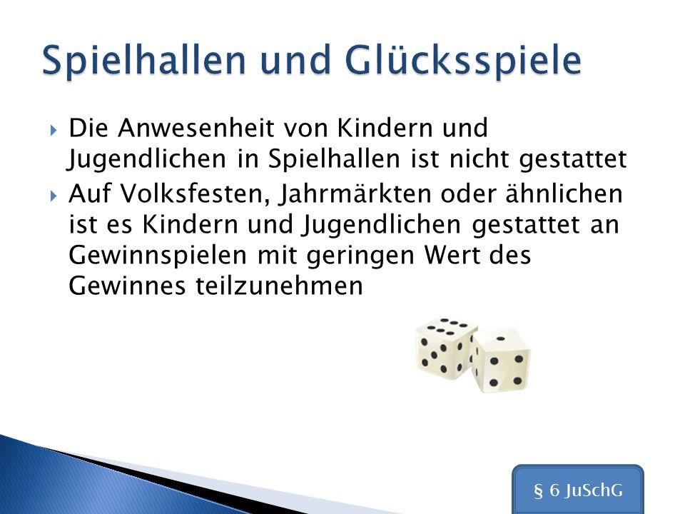 Spielhallen und Glücksspiele