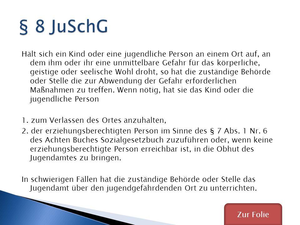 § 8 JuSchG