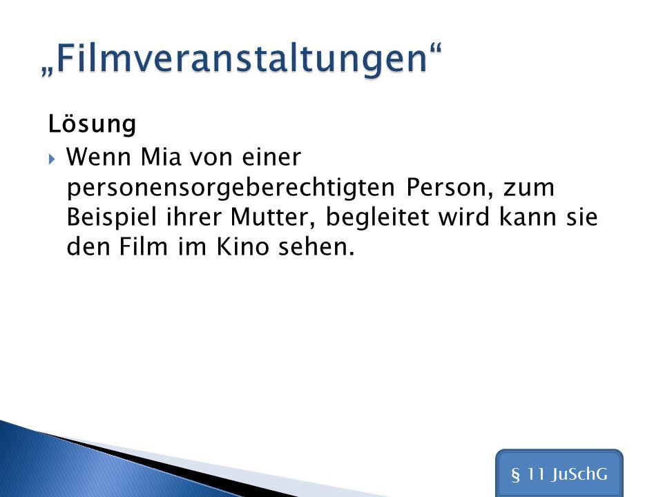 """""""Filmveranstaltungen"""