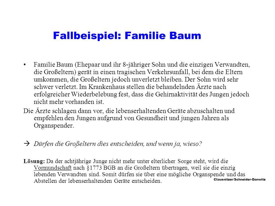 Fallbeispiel: Familie Baum